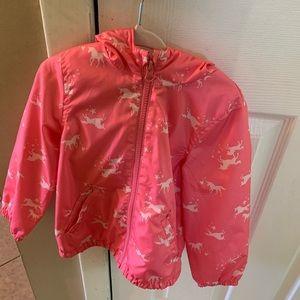Carters pink Unicorn Raincoat